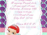 Ariel Baby Shower Invitations Baby Ariel Baby Shower Invitations