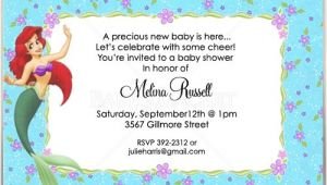 Ariel Baby Shower Invitations Little Mermaid Ariel Baby Shower Invitations
