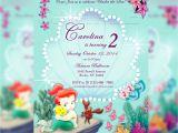 Ariel Baby Shower Invitations Little Mermaid Baby Shower Invitations