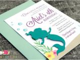 Ariel Baby Shower Invitations Little Mermaid Invitations · A6 Flat · Turquoise and