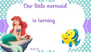 Ariel Birthday Invitation Template Updated Free Printable Ariel the Little Mermaid