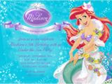 Ariel Birthday Party Invitations Printable 5 Best Of Printable Ariel Party Little Mermaid