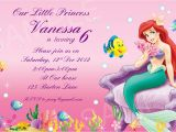 Ariel Birthday Party Invitations Printable Ariel Invitation Printable Disney Princess Birthday