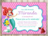 Ariel Birthday Party Invitations Printable Little Mermaid Birthday Invitation Ariel Invitation Ariel