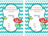 Ariel Birthday Party Invitations Printable Little Mermaid Birthday Invitations – Birthday Printable