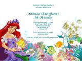 Ariel Birthday Party Invitations Printable the Little Mermaid Birthday Invitations