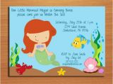 Ariel Party Invites Ariel Little Mermaid Princess Birthday Party Invitation