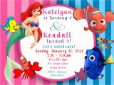Ariel Party Invites Custom Photo Invitation Ariel the Little Mermaid Finding