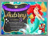 Ariel Party Invites Little Mermaid Invitation Disney Ariel Invite Little