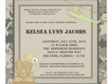 Army Camo Baby Shower Invitations 5×7 Baby Shower Invitation Army Camo Acu Print 5 25