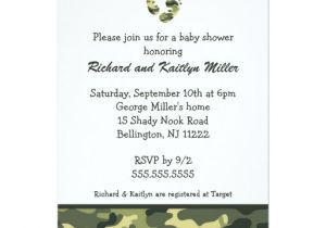 Army Camo Baby Shower Invitations Camo Army Green Baby Feet Shower Invitation
