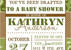 Army Camo Baby Shower Invitations Good Times Boy Babies and Military On Pinterest