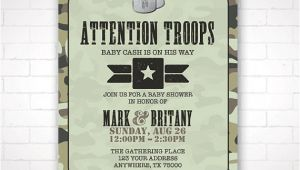 Army themed Baby Shower Invitations Diy Army themed Baby Shower Invitation