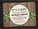 Army themed Baby Shower Invitations Items Similar to Rustic Camo Army themed Birthday or Baby