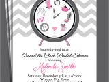 Around the Clock Bridal Shower Invitations Around the Clock Bridal Shower Invitation Printable or Printed