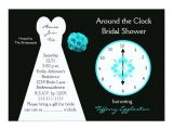 Around the Clock Bridal Shower Invitations Around the Clock Bridal Shower Invitations