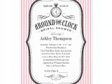 Around the Clock Bridal Shower Invitations Personalized Around the Clock Wedding Shower Invitations