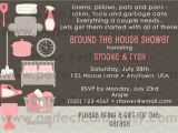 Around the House Bridal Shower Invitations Around the House Wedding Bridal Shower Invitation