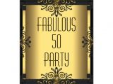 Art Deco Birthday Party Invitations Art Deco Fabulous 50 50th Gatsby Birthday Party Invites