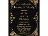 Art Deco Birthday Party Invitations Birthday Party Invitation Any Age Art Deco Gatsby Zazzle