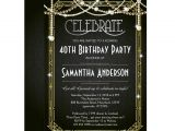 Art Deco Birthday Party Invitations Great Gatsby Birthday Invitation Art Deco Invite