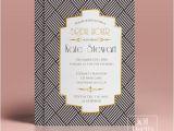Art Deco Bridal Shower Invitations Art Deco Bridal Shower Invitation Template Gold Foil