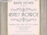 Art Deco Bridal Shower Invitations Bridal Shower Invitations Printable Art Deco Style Elegant