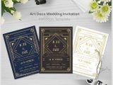 Art Deco Wedding Invitations Free Download 29 Art Deco Wedding Invitations Free Premium Download