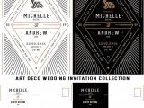 Art Deco Wedding Invitations Free Download Art Deco Wedding Invitation Collection Free Download