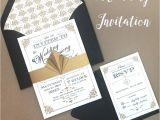 Art Deco Wedding Invitations Free Download Art Deco Wedding Invitation Diy with Download Print