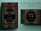 Art Deco Wedding Invitations Free Download Art Deco Wedding Invitation Template Gatsby Wedding