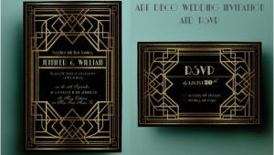 Art Deco Wedding Invitations Free Download Art Deco Wedding Invitation Template Gatsby Wedding