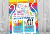 Art Party Invitation Template Free Art Party Invitation Art Party Art Birthday Invitation Art