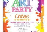 Art Party Invitation Template Free Art themed Birthday Party Invitations Free Invitation