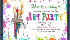 Art Party Invitation Template Free Kids Invitation Templates 27 Free Psd Vector Eps Ai