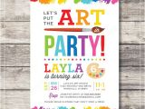 Art themed Birthday Party Invitation Wording Unavailable Listing On Etsy
