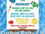 Art themed Birthday Party Invitations Art themed Birthday Invitations by Customparty4u Catch