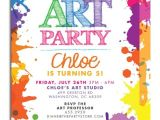 Art themed Birthday Party Invitations Art themed Birthday Party Invitations Drevio Invitations