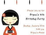 Asian themed Party Invitations Cute Chinese themed Bday Party Birthday Parties