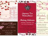 Asian themed Party Invitations Pretty Spring theme Bridal Shower Cherry Blossom Floral