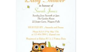 Autumn themed Baby Shower Invitations Cute Owls Fall themed Baby Shower Invitation