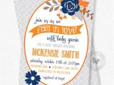 Autumn themed Baby Shower Invitations Fall Baby Shower Invitations Floral Baby Shower Invitation