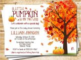 Autumn themed Baby Shower Invitations Little Pumpkin Baby Shower Invitation Autumn Fall Baby