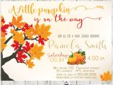 Autumn themed Baby Shower Invitations Little Pumpkin Fall themed Baby Shower Invitation
