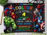 Avengers Birthday Invitations Custom Avengers Birthday Invitation Avengers Invitation Avengers