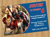 Avengers Birthday Invitations Custom Avengers Birthday Invitations