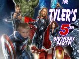 Avengers Birthday Invitations Custom Avengers Personalized Photo Birthday Invitations 2 Ajs