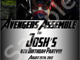 Avengers Birthday Invitations Custom Custom Avengers Birthday Invitations Party Fun