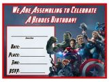 Avengers Birthday Invitations Custom Free Free Avengers Age Of Ultron Printable Birthday Invitation