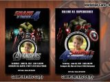 Avengers Birthday Invitations Custom Personalized Avengers Birthday Party Invitation 4×6 with
